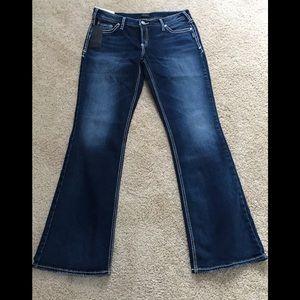 NWT! Silver SZ31, suki boot cut indigo curvy jeans